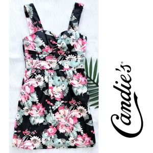 CANDIE'S mini flower print fitted dress size 7